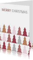 Kerstkaarten - Kerstkaart met bomen