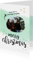 Kerstkaart met foto en persoonlijke boodschap