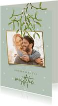 Kerstkaart 'mistletoe' met foto