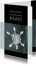Kerstkaart modern 2020, met dun laagje ijs en kristal