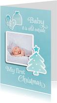 Kerstkaart my first Christmas kerstbaby
