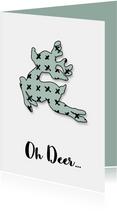 Kerstkaart Oh Deer mint
