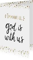 Kerstkaart Opwekking 531 Immanuel
