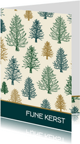 Kerstkaart patroon bomen