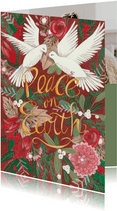 Kerstkaart Peace on Earth illustratie