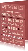 Kerstkaart Santa's rules