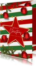 Kerstkaart sfeervolle feestdagen ster