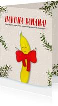 Kerstkaart staand Hakuna Banana!
