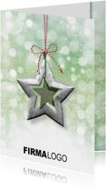 Kerstkaart ster groen rood rh