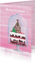 Kerstkaart: Stolp met heerlijk kersttaartje