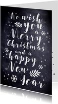 Kerstkaart tekstueel met krijt