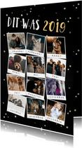 Kerstkaart terugblik op 2019 fotocollage polaroid