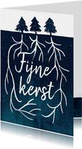 Kerstkaart typografie boomwortels