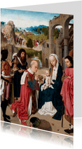 Kerstkaart van Geertgen tot Sint Jans - De aanbidding