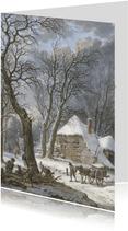 Kerstkaart van Pieter Barbiers, Winterlandschap