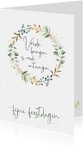 """Kerstkaart """"vrede brengen"""""""