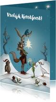 Kerstkaarten - Kerstkaart vrolijke kerst ster
