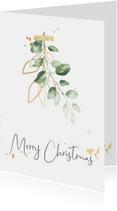 Kerstkaart waterverf mistletoe