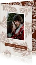 Kerstkaart winter takjes - HM