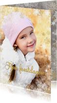 Kerstkaart winterse rand