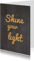 Kerstkaarten - Shine your Light
