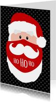 Kerstman mondkapje bedankt Ho ho ho
