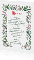 Kerstmenu dennetakjes elegant
