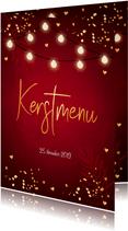 Kerstmenukaart rood design