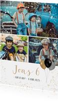 Kinderfeest uitnodiging fotocollage met ruimte voor 3 foto's