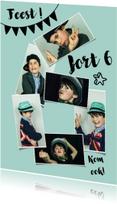 Kinderfeestje 6 jaar fotocollage jongen of meisje