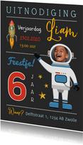 Kinderfeestje astronaut raket sterren superheld
