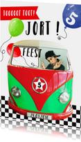 Kinderfeestje autobusje jongen