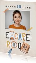 Kinderfeestje escape room jongen meisje detective