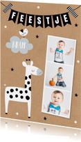 kinderfeestje fotocollage giraf slinger