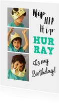 Kinderfeestje fotocollage tekst