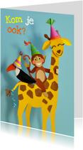 kinderfeestje giraffe