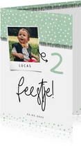 Kinderfeestje hip confetti met foto aanpasbaar