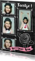 Kinderfeestje hip meisje foto's roos