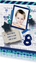 Kinderfeestje jongen stoer sterren tape foto