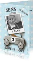 Kinderfeestje loopauto stoer