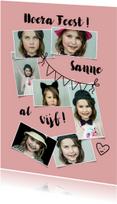 Kinderfeestje meisje 5 jaar fotocollage