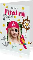 Kinderfeestje meisje stoer piratenfeest piraat schatzoeken