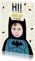 Kinderfeestje superheld Batman met eigen foto