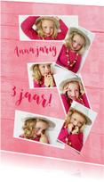 Kinderfeestje uitnodiging 3 jaar voor jongen of meisje