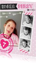 Kinderfeestje uitnodiging Collage hip en lief