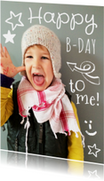 Kinderfeestje uitnodiging foto happy