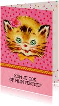 Kinderfeestje uitnodiging Kat
