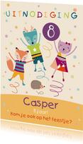 Kinderfeestje uitnodiging trampoline springen