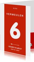 Kinderfeestje voetbalshirt uitnodiging rood wit