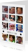 Kindergeburtstag Einladung 12 Monate Fotocollage